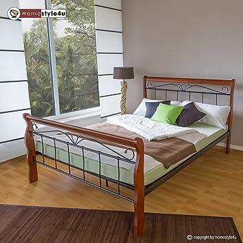 Homestyle4u 988 Metallbett 160 X 200 Mit Lattenrost