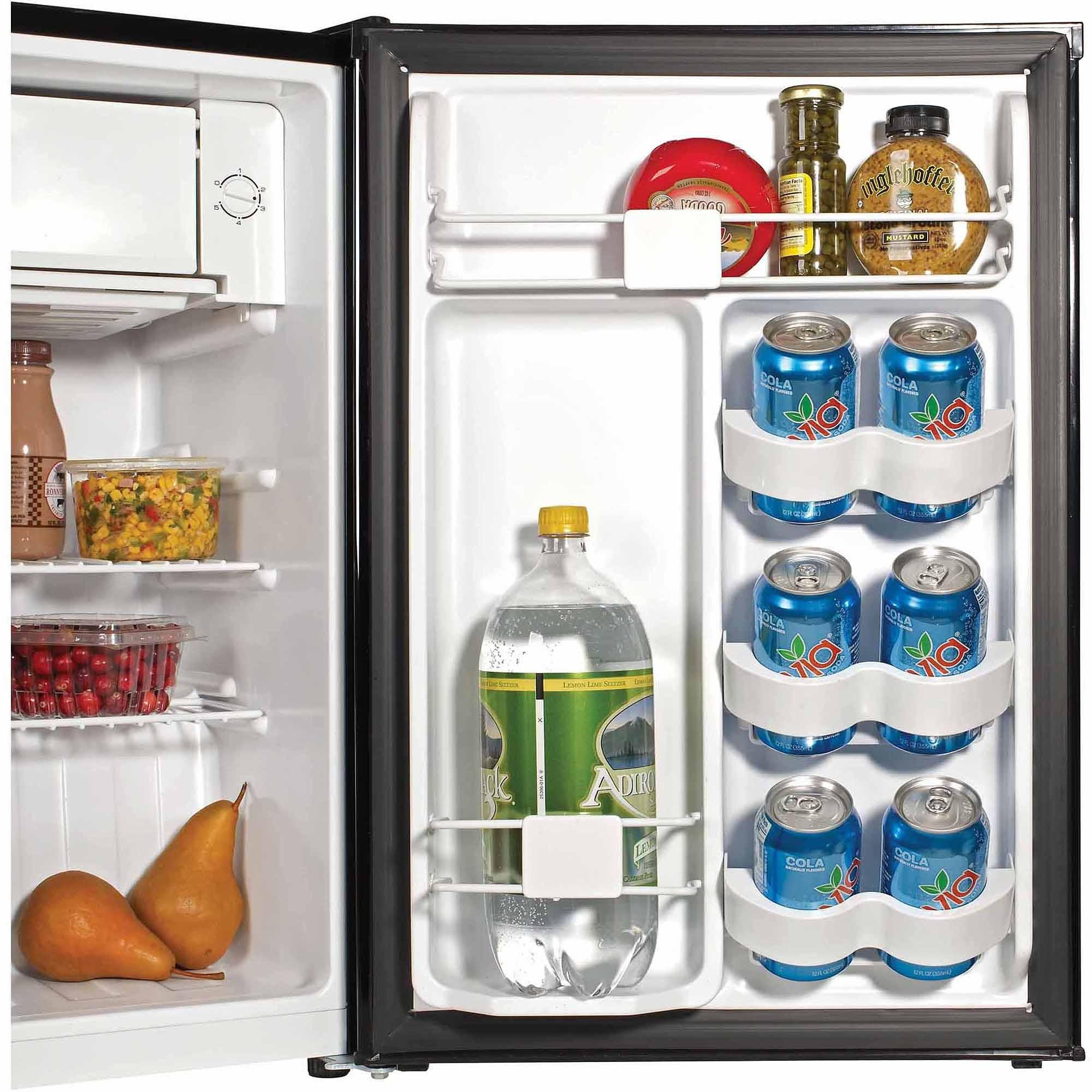 2.7 Cu ft. Compact Design Refrigerator with Ice Cube Tray and Two Full-Width Wire Shelves, Black