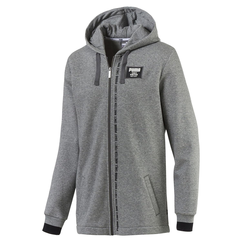 TALLA XL. Puma Rebel Block FZ Hoody FL Sweatshirt, Hombre