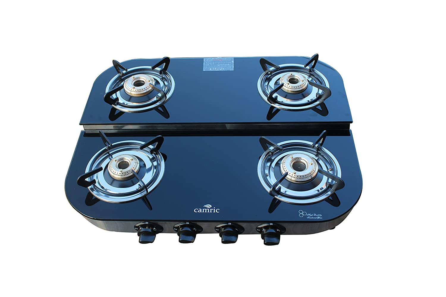 Buy Camric Gas Stove 4 Burner Double Decker Online at Low Prices in ...