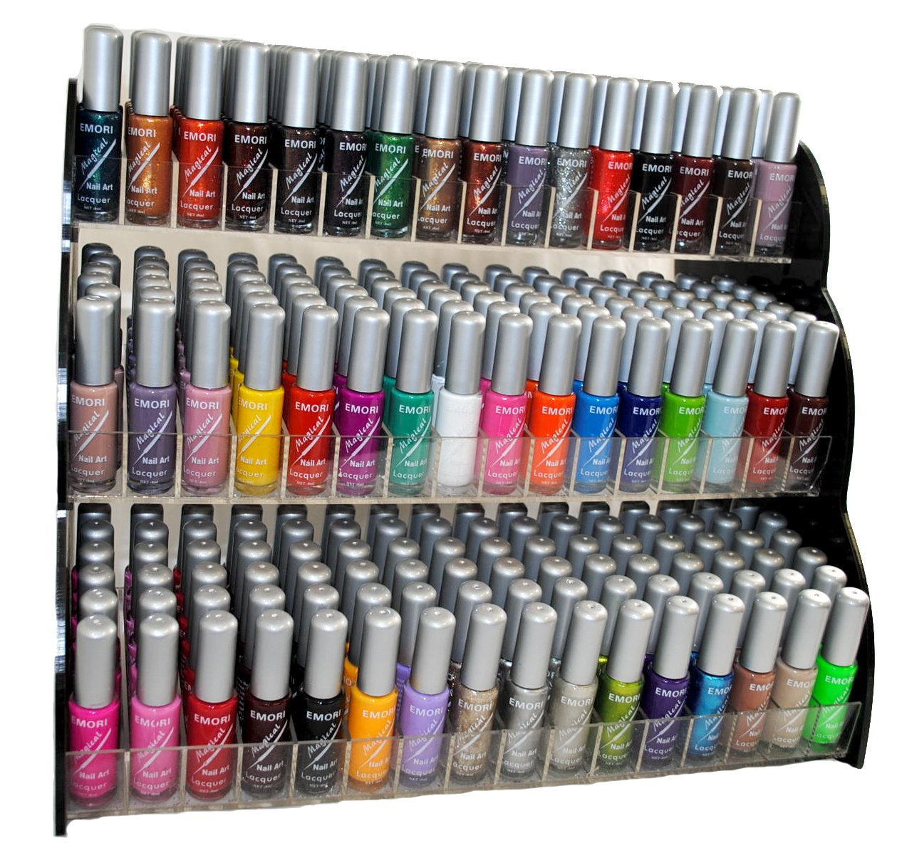 Amazon emori tm all about nail 50 piece color nail lacquer amazon emori tm all about nail 50 piece color nail lacquer nail art brush style combo set 3 sets of scented nail polish remover magical health prinsesfo Gallery