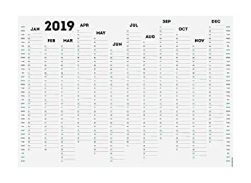photograph about Blank Planner identified as White Out 2019 Wall Planner A1 Or A2 Non-Laminated (A1 Blank