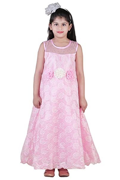 d8595f76268 Qeboo Girl s Cotton Net Beautiful Maxi Gown Dress with Sizes from 3 Years  to 9