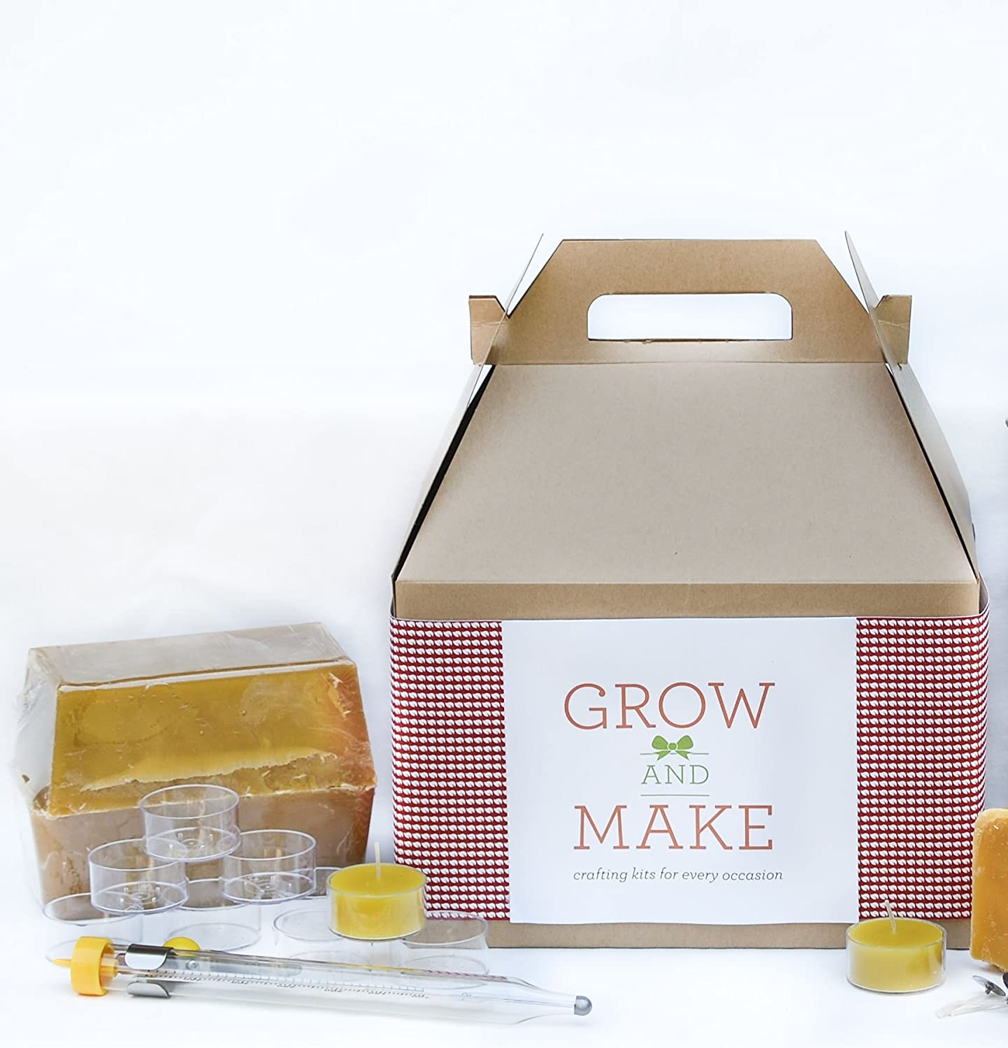 Grow and Make DIY Complete Beeswax Candle Making Kit - Make