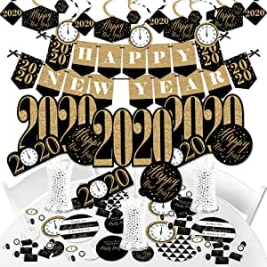 Amazon.com: Big Dot of Happiness New Year's Eve - Gold ...
