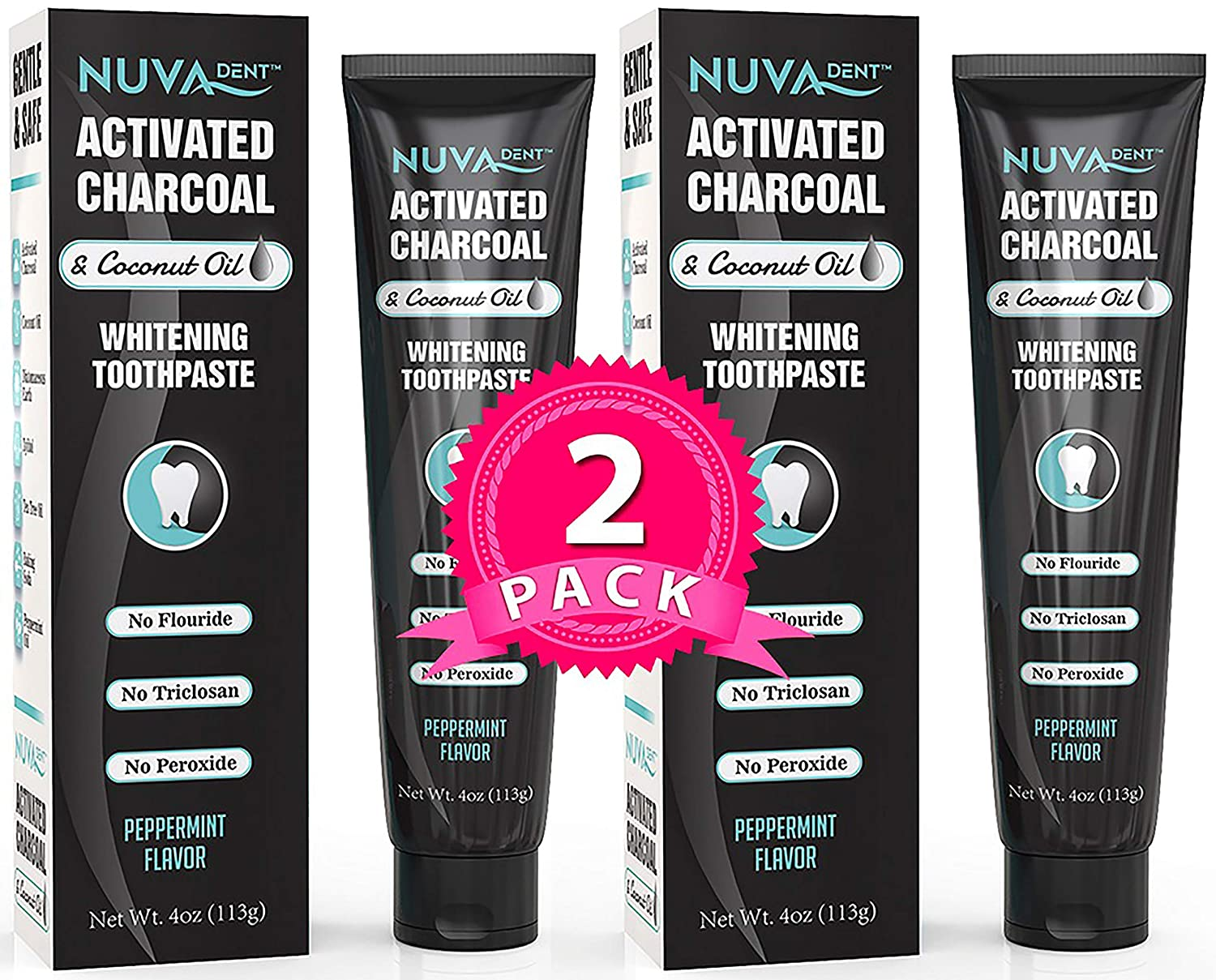Nuva Dent Activated Charcoal Toothpaste