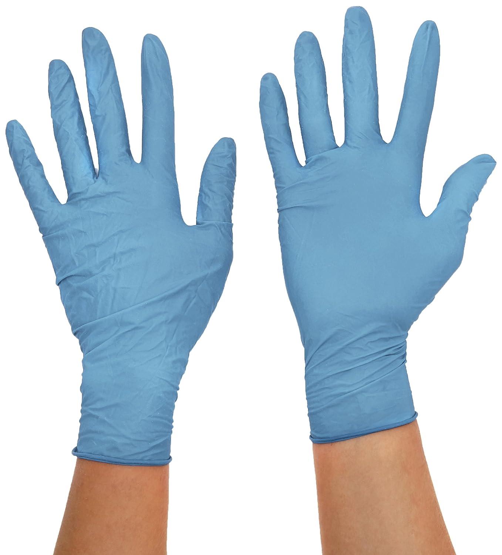 color azul sin polvo Pack de 100 talla XS Supermax 63885/Aurelia robusto Plus guantes de nitrilo manga larga