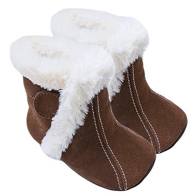 Rose & Chocolat Chaussures Bébé Bootz Marron Taille 21/22 cm