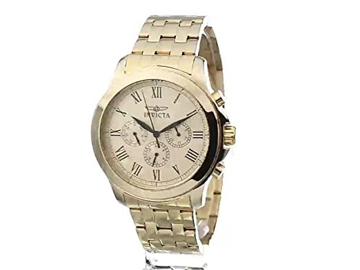 Amazon.com: Invicta Mens 21658 Specialty Analog Display Swiss Quartz Gold-Plated Watch: Invicta: Watches