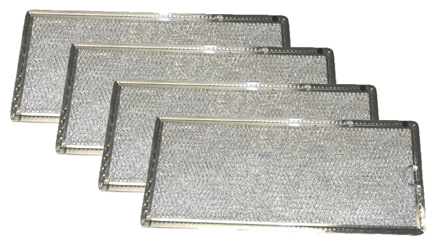 Microwave Grease Air Filter Replaces GE HotPoint Range WB06X10596, 4 Filters energi8_zae