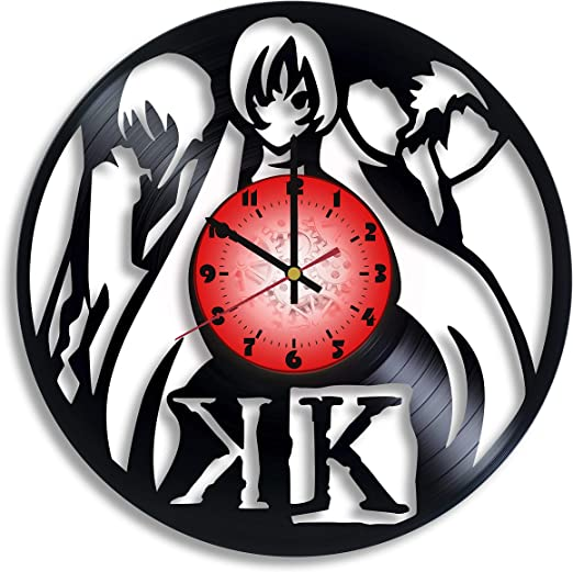 Project K Computer Game Logo Handmade Vinyl Record Wall Clock Project K Kitchen Decor Project K Gift For Him And Her Amazon Ca Home Kitchen