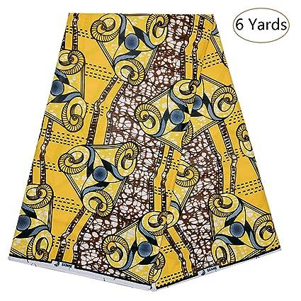 34db900ce0c Amazon.com  Dexuelan Latest African Fashion Batik Fabrics 6 Yards ...