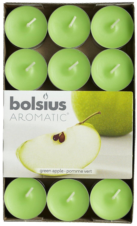 Bolsius 103626944485 - Velitas perfumadas, aroma de manzana verde, 30 unidades, color verde Scented Candle Shop
