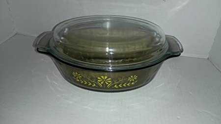 Glasbake Oval con tapa cacerola de cristal para horno platos ...