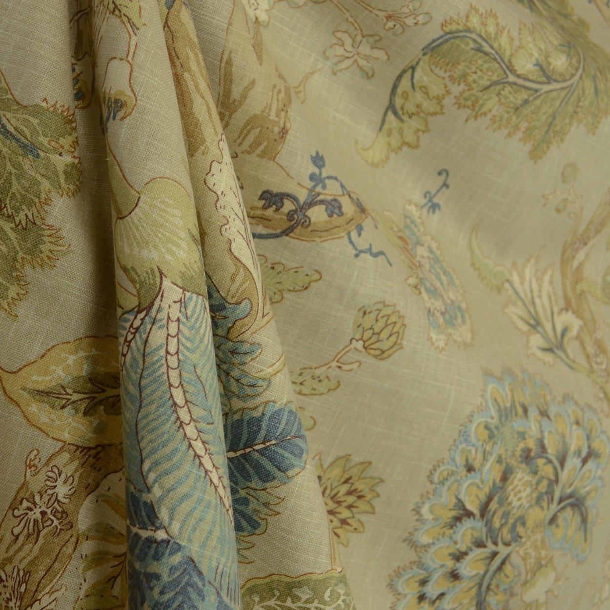 54'' Wide P Kaufmann Florabunda Sea Glass Fabric By The Yard by Kaufman   B004EO18EK
