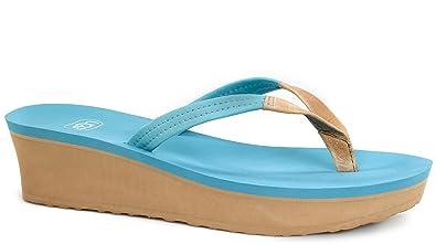 82813d87d12a UGG Women s Ruby Surf Blue Leather Sandal 11 B ...