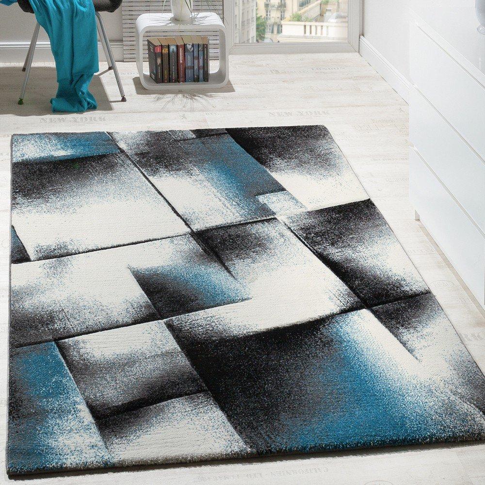 Paco Home Designer Teppich Wohnzimmer Teppiche Kurzflor Meliert ...
