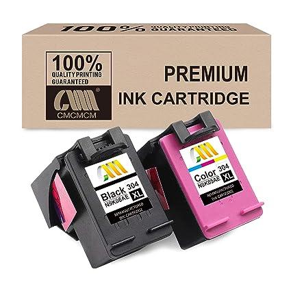 CMCMCM Remanufacturado Cartucho de tinta Para HP 304 304XL Para HP DeskJet 2630 3720 3730 3735 3750 3760 Envy 5030 5032 5020 (1 Negro, 1 Colour) álta ...