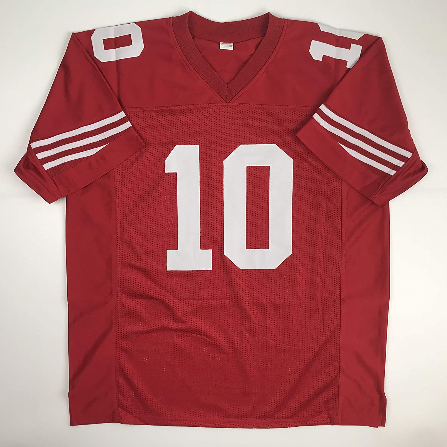 6e0748f0f91 Amazon.com  Unsigned Jimmy Garoppolo San Francisco Red Custom Stitched  Football Jersey Size Men s XL New No Brands Logos  Sports Collectibles