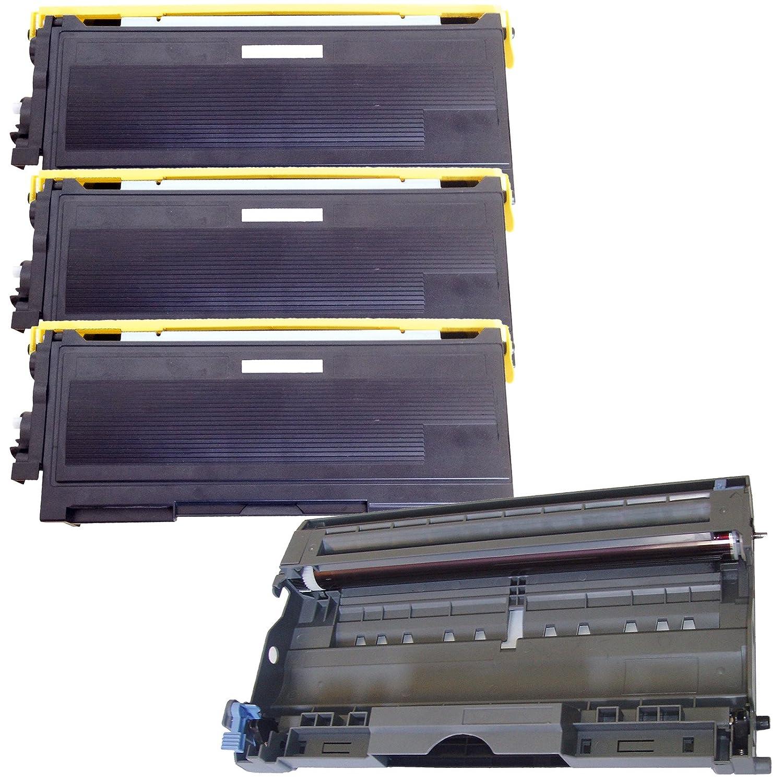 (1 Drum + 3 Toner) Inktoneram® Replacement toner cartridges & drum for Brother TN350 DR350 Toner Cartridges & Drum replacement for Brother DR-350 TN-350 Set HL-2030 HL-2040 HL-2070N DCP-7020 IntelliFax 2820 2910 2