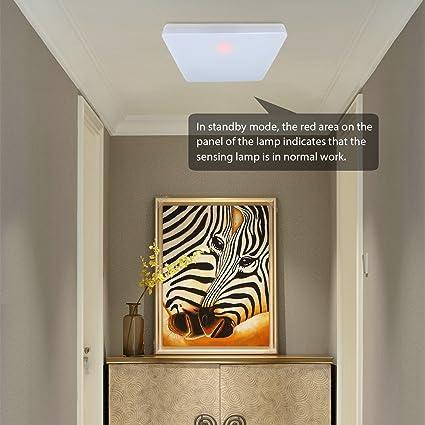 Oeegoo 18W Lamparas de techo LED IP44 Plafon led de techo 1550LM 4000K Sensor de Movimiento Detector de Movimiento Luz Automática crepuscular para entrada ...