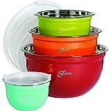Fiesta 8 Piece Mixing Bowl Set with Lids, Mixed