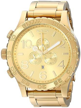 d600d49e6e1 Amazon.com  Nixon 51-30 Chrono A083897-00. All Gold Men s Watch ...