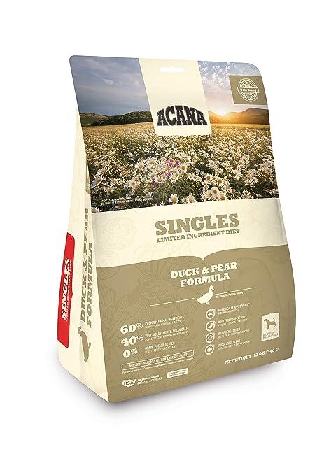 ACANA Singles Fórmula – Alimento para perros de pato y pera, 325 ml