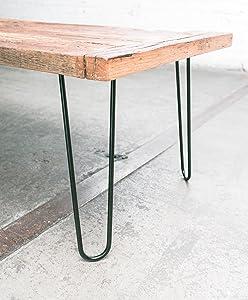 Heavy Duty Hairpin Legs (Satin Black) - Mid Century Modern - Set of 4 Table Legs