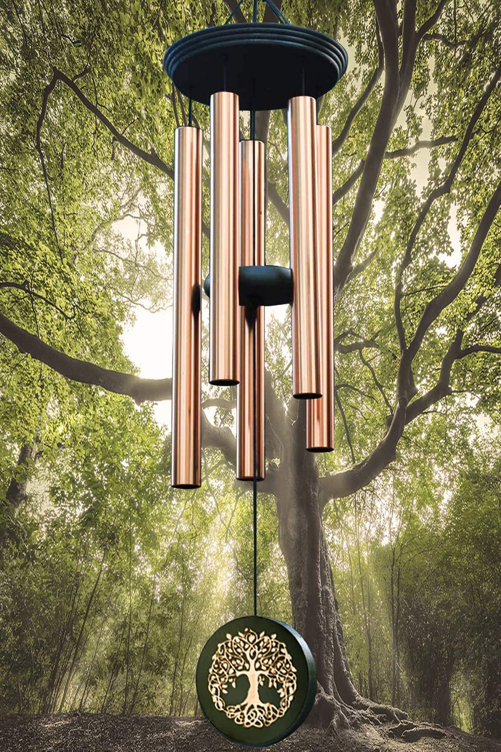 """Wind Chimes Outdoors Large Deep Tone,36"""" Memorial Wind Chimes Tree of Life Chimes in Memory of Loved One ,Sympathy Wind Chime Gifts for Mother Christmas,Unique Wind Chimes Outdoors Garden Chimes Decor"""