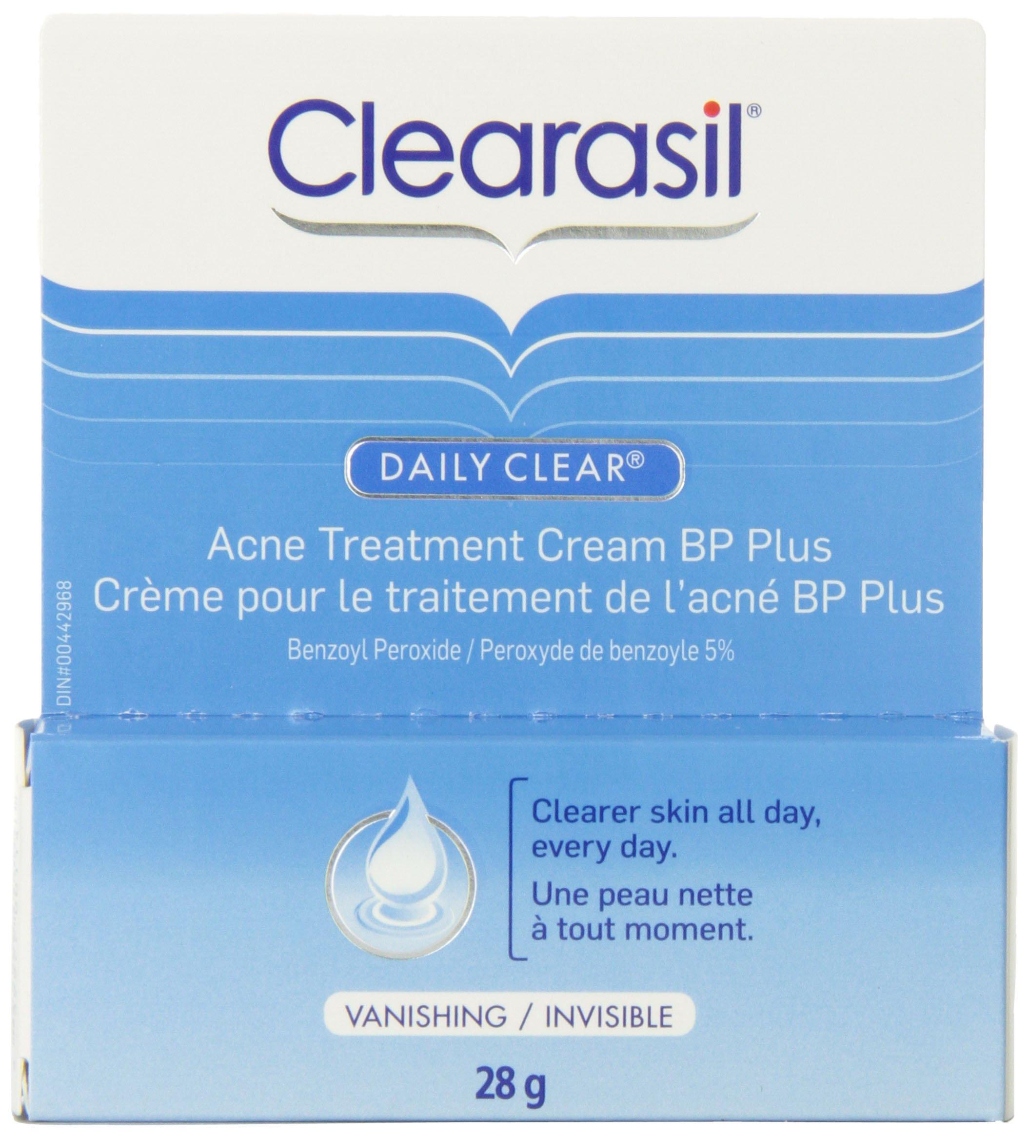 Clearasil Daily Clear BP Plus Acne Treatment Cream, 28g