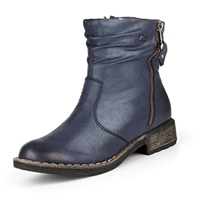 Womens Y0733 Ankle Boots, Navy, 3.5 UK Rieker