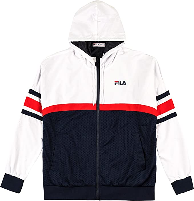 Fila Jacket Hansen, Größe:2XL, Farbe:peacoat/red/white: Amazon.es ...