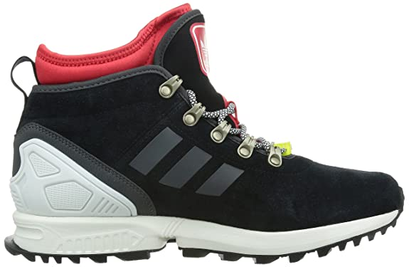 quality design 073b9 d23dc Amazon.com   Adidas Men s ZX Flux Winter, BLACK RED WHITE, ...