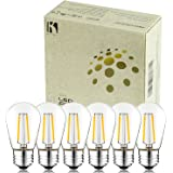 Keymit S14 2W UL Listed E492997 LED E26 Medium Base Bulbs Non-Dimmable - 11W Incandescent Equivalent for Outdoor Commercial Grade String Lights Hanging Sockets Replacement Bulb 6Pack