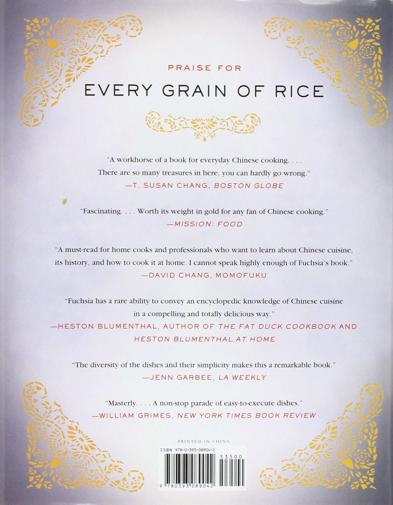 every grain of rice simple chinese home cooking fuchsia dunlop