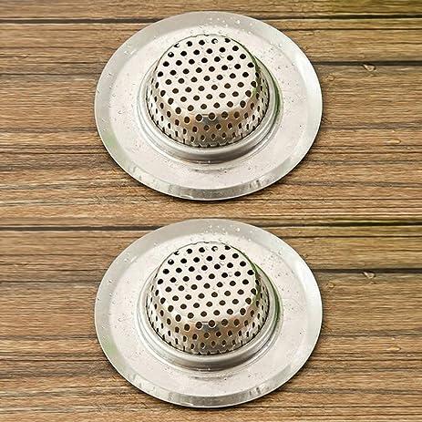 4 Pcs Stainless Steel Sink Filter Bathtub Drain Residue Bathroom ...