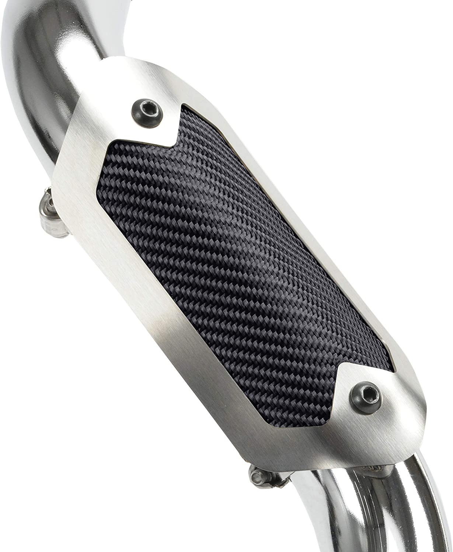 Design Engineering 010926 Black Onyx Flexible 3.5 x 6.5 Heat Shield with Metal Trim Ring