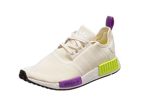 buy popular ba1e9 d0e36 Adidas NMD R1 Basket Mode Homme - Beige (ChalkwhiteChalkwhiteSemi Solar  Yellow