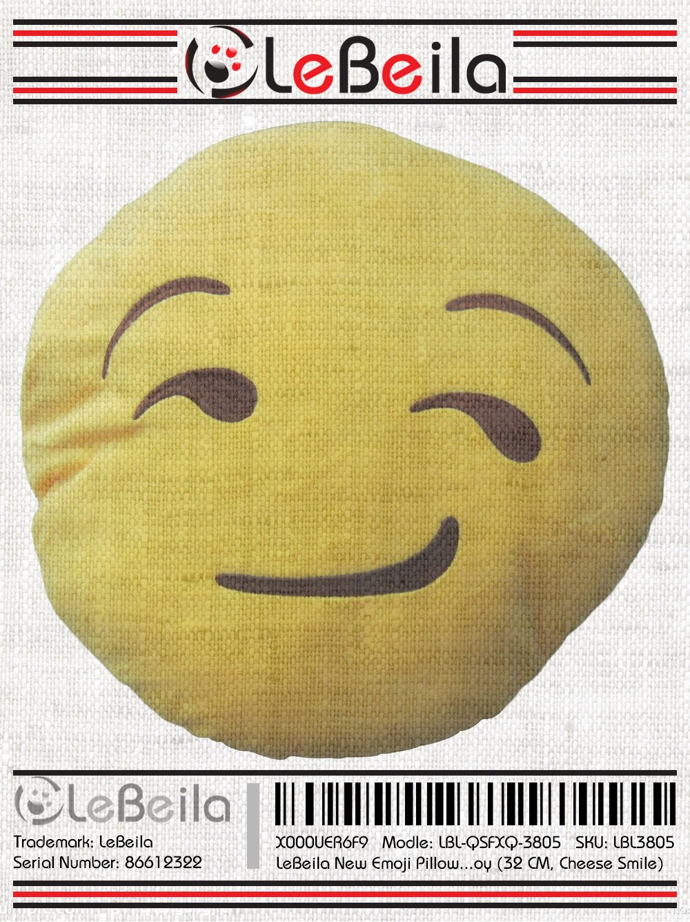amazon com lebeila new emoji pillow big smiley happy laughing face