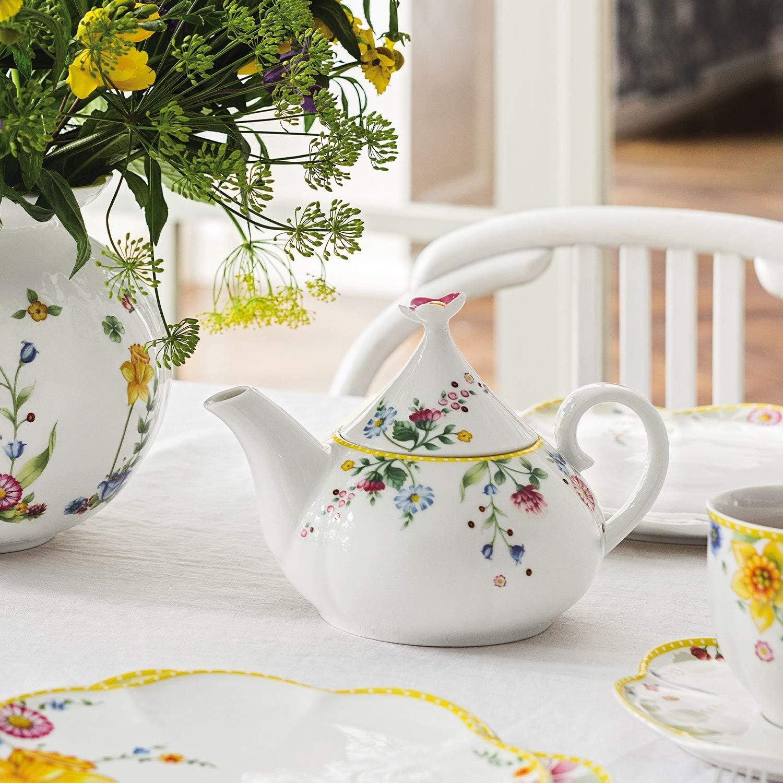 Villeroy /& Boch Spring Awakening Th/éi/ère avec Motif printanier en Porcelaine Blanc 21 x 14,5 x 14 cm