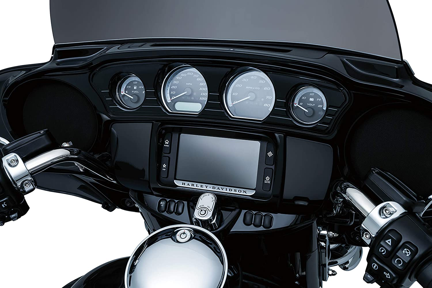 Gloss Black Switch Panel Frame Accent Trim for 2014-19 Harley-Davidson Motorcycles Kuryakyn 7278 Motorcycle Accessory