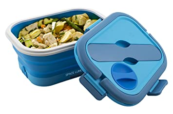 Macom Just Kitchen 864 Space Lunch to Go Hornillo eléctrico plegable Salvaspazio, 35 W, Azul/Blanco: Amazon.es: Hogar
