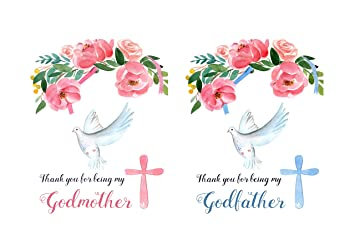 godparents thank you card set for grandparents godmother gifts baptized in christ great gifts for godparents