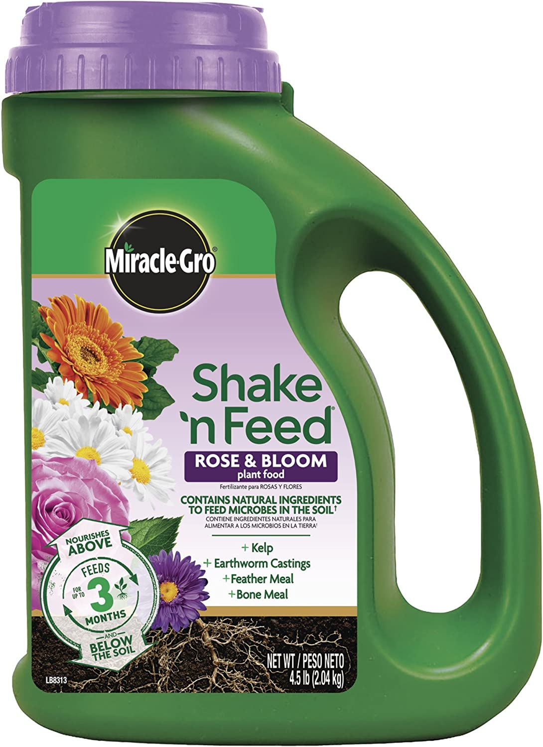 Miracle-Gro 3002210 Shake 'N Feed Rose & Bloom Continuous Release Plant Food