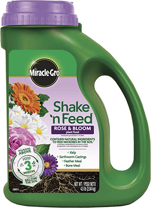 Miracle-Gro Shake 'N Feed Rose & Bloom Plant Food, 4.5 lb.