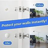 """Wall Protectors for Door Handle - 2"""" White Door"""