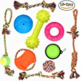 12 pack pets puppy dog rope toys variety pack for large dogs durable ropes for tough aggressive chewer by Originnt