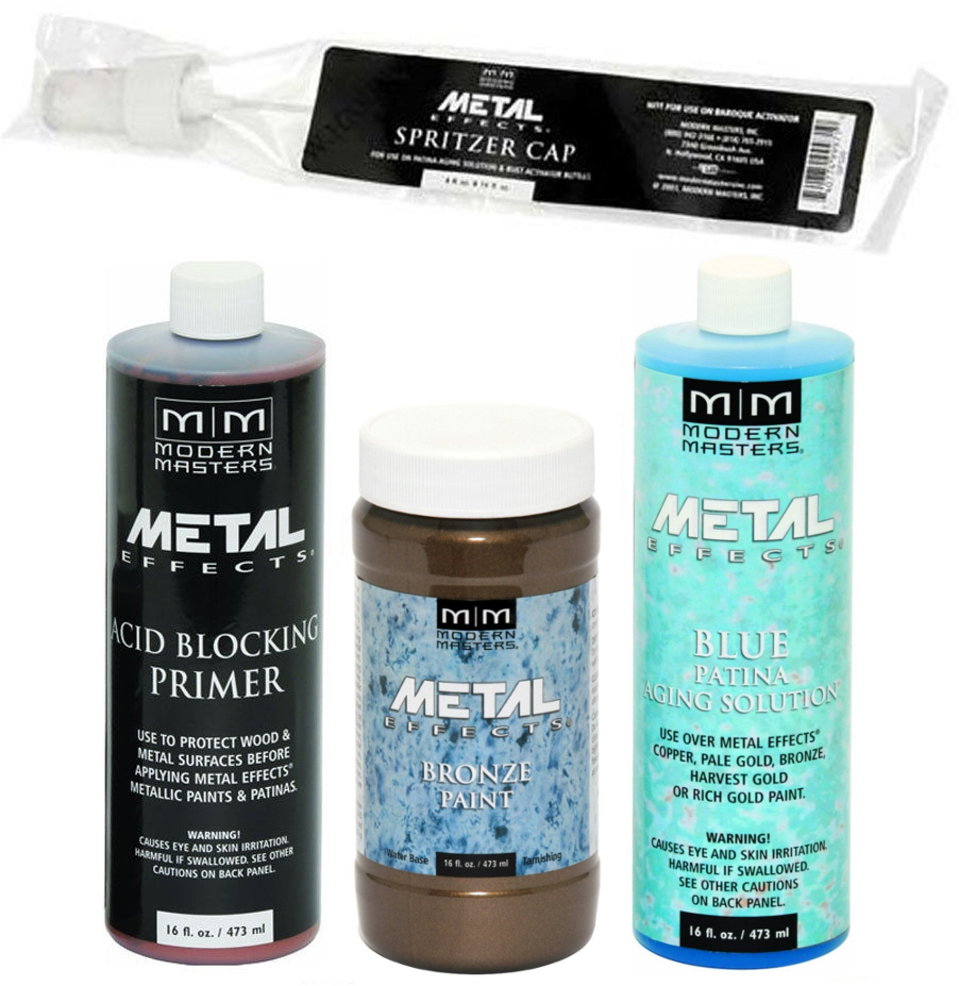Modern Masters Metal Effects Bronze Paint and Blue Patina Kit (16-Ounce)