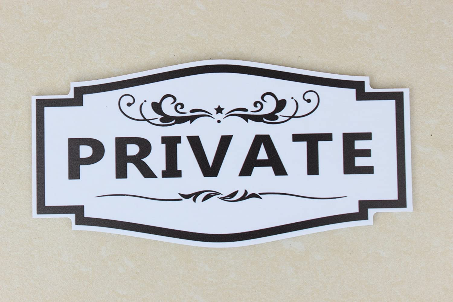 """Meijiafei Private Sign Outdoor/Indoor Use 6""""x3""""- for Business Store, Shop, Cafe, Office, Restaurant (White)"""